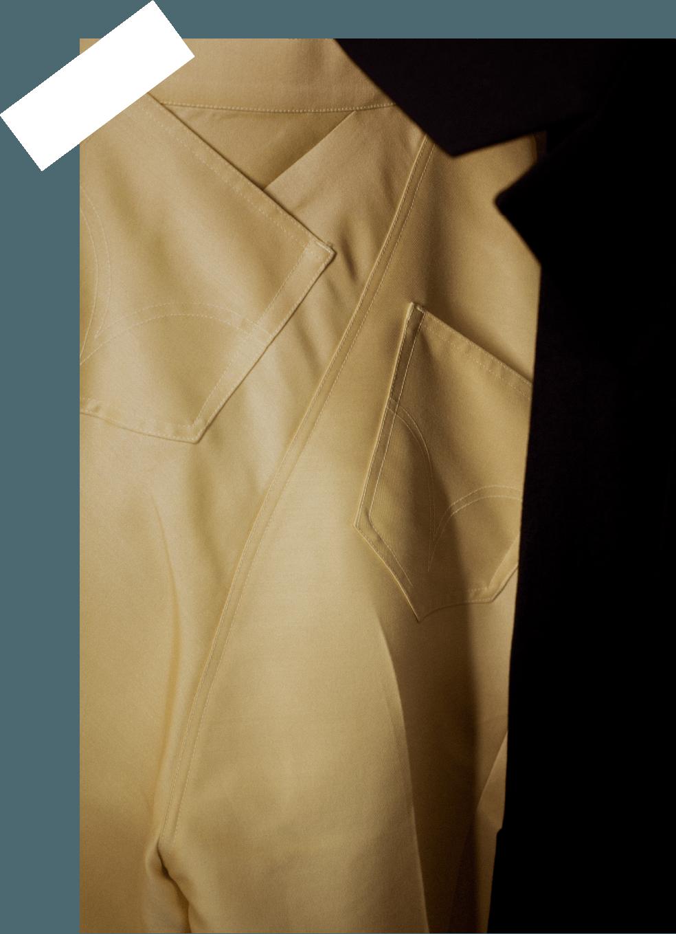 beige pants backpocket