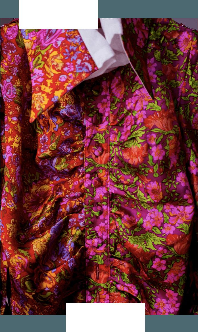 pink flower dress detail
