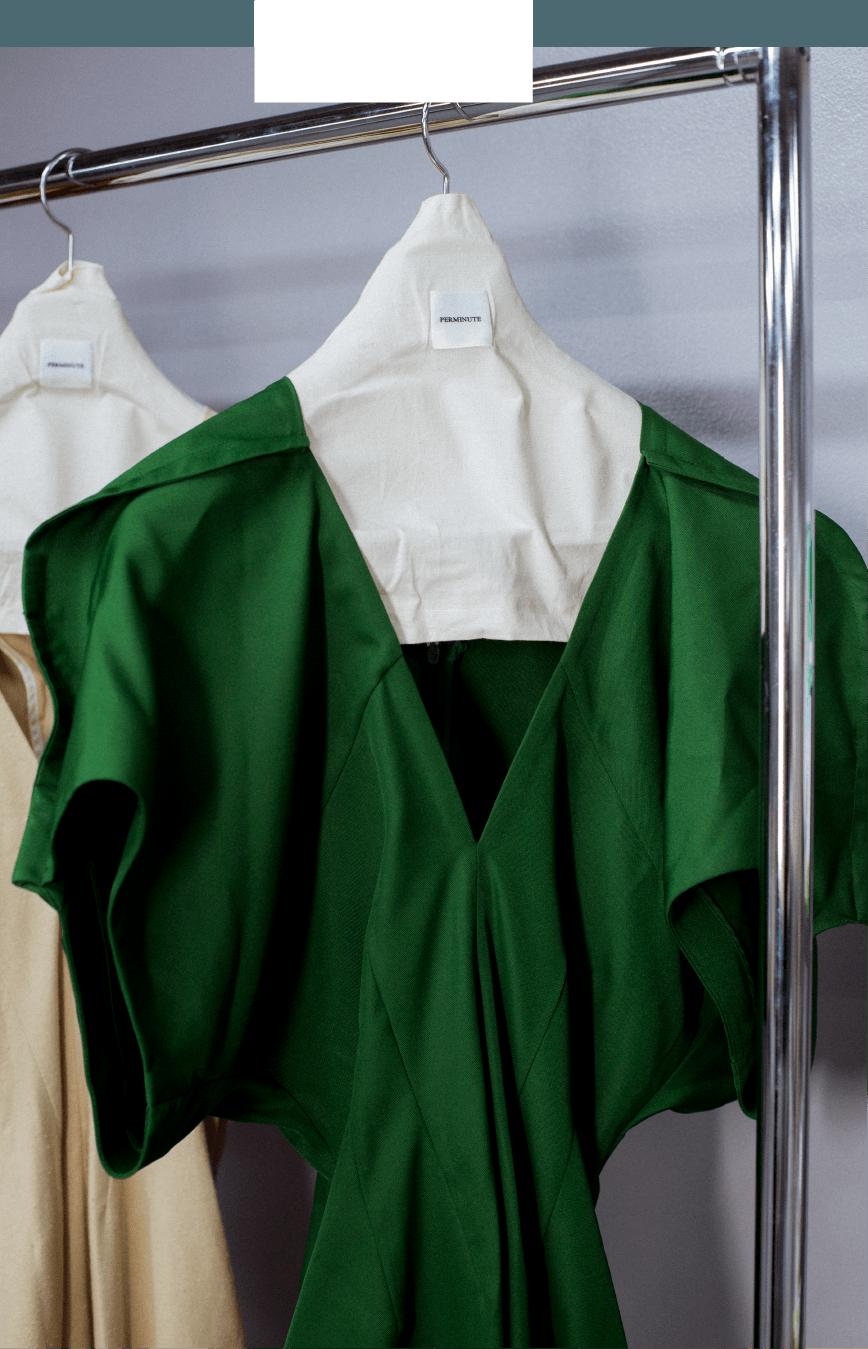 green dress detail