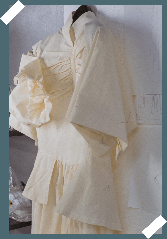 dress in making